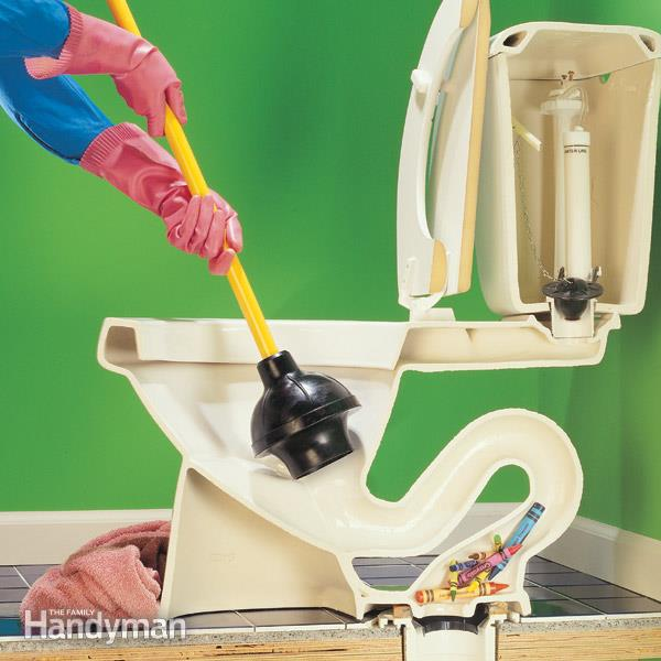 drain cleaning unclog toilet