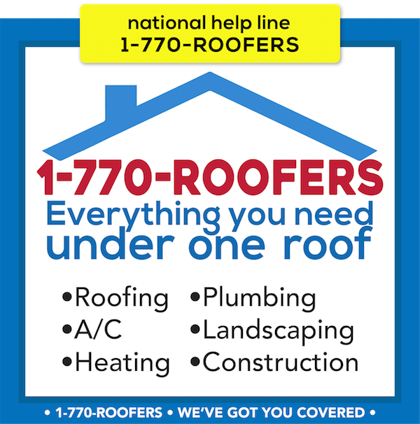 1-770-ROOFERS is the National Helpline for Connecting Consumers to Service Contractors